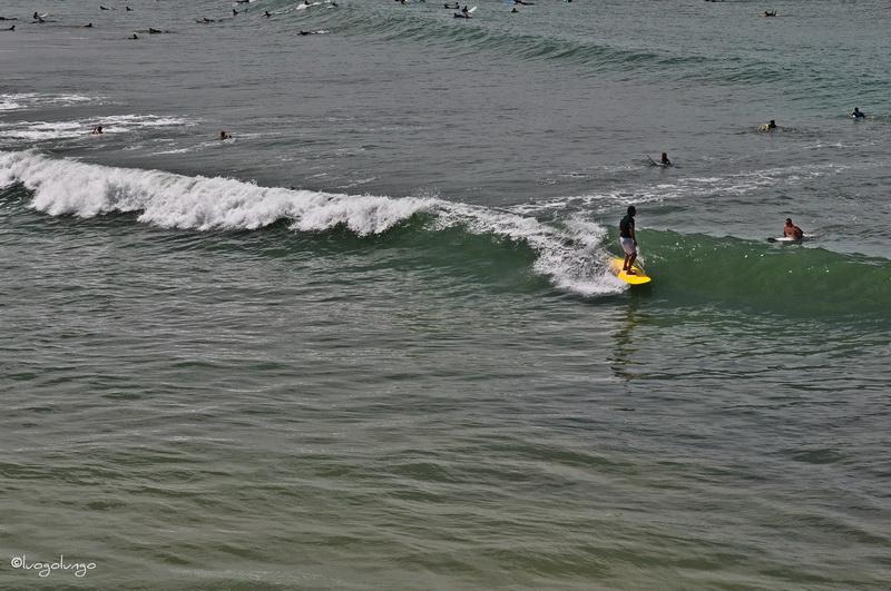 foto con raffigurato surfista _Biarritz