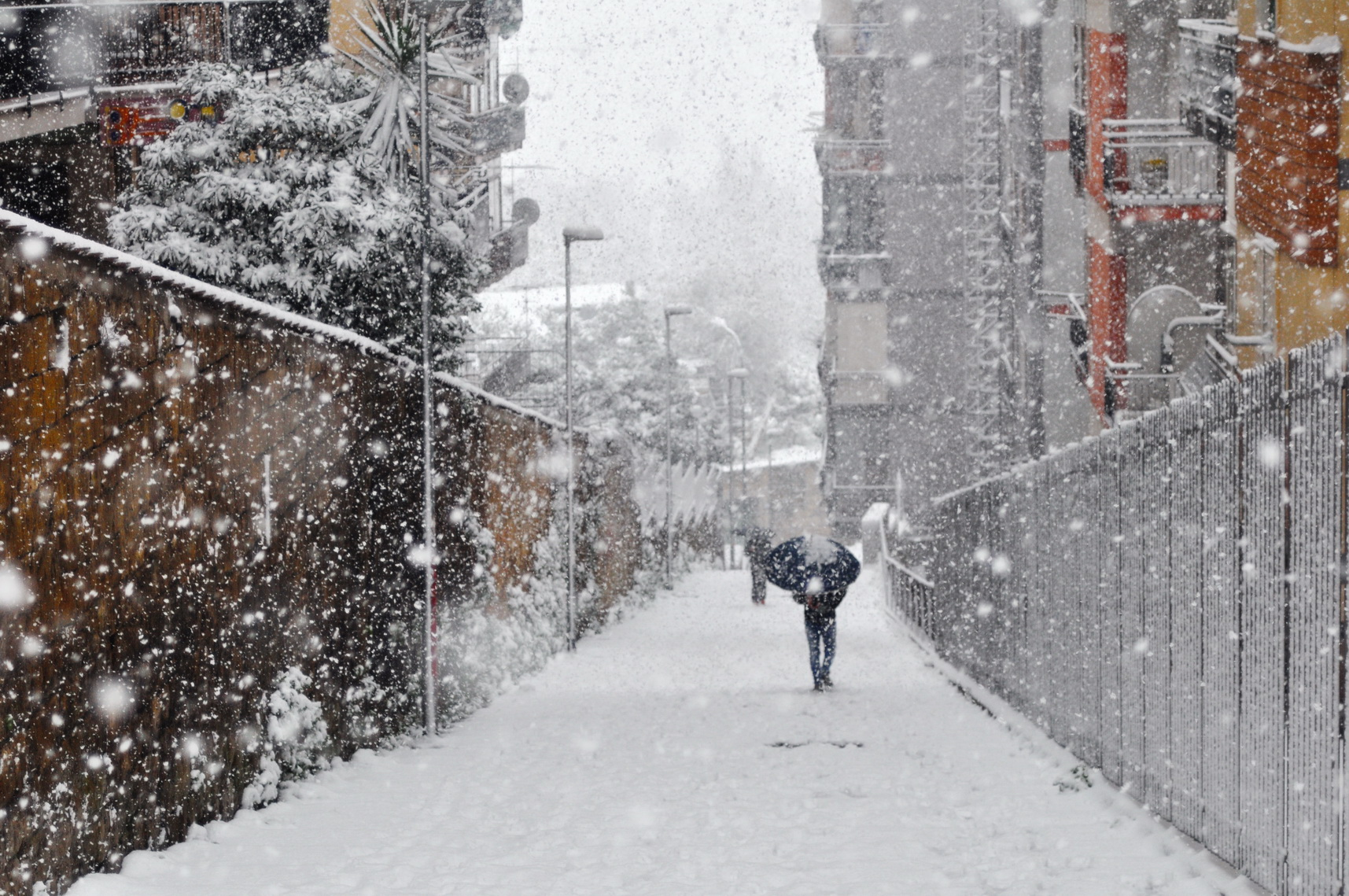Rione Alto_Napoli_sotto la neve 2018